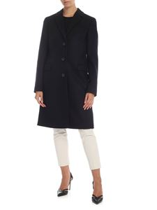 Calvin Klein - Virgin wool and cashmere coat in black