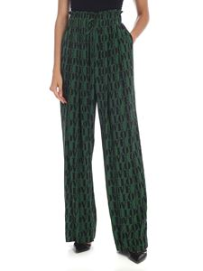 Calvin Klein - Love high-waisted trousers in green