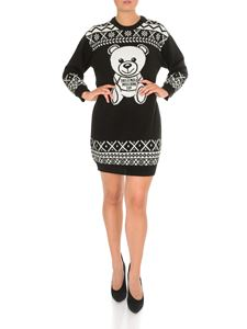 Moschino - Fair Isle Teddy Bear dress in black