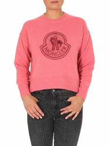 Moncler - Patch Logo pullover in salmon pink