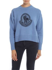 Moncler - Patch Logo pullover in light blue