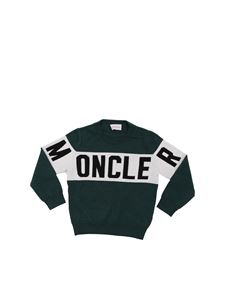 Moncler Jr - Green virgin wool pullover