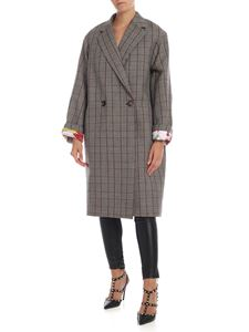 Stella McCartney - Prince of Wales Chec coat in beige and black