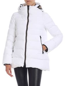 Herno Laminar - White down jacket with removable hood