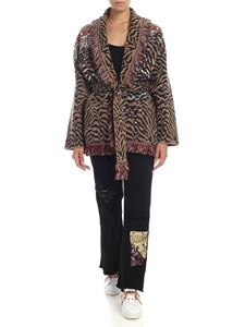 Alanui - Jaquard animal print multicolor cardigan