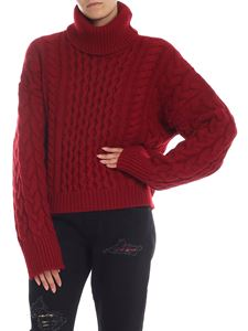 Alanui - Garnet turtleneck in dark red