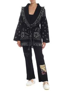 Alanui - Embassy oversized cardigan in black and white