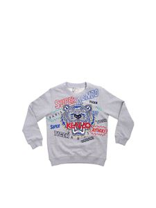 Kenzo - Super Kenzo Tiger sweatshirt in gray melange