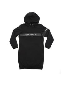 Givenchy - Black dress with Givenchy glitter band