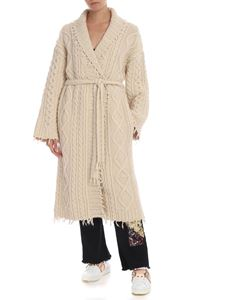 Alanui - Lapponia long cardigan in cream color