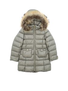 Herno - Quilted down jacket in pearl gray