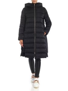 Herno - Long oversized down jacket in black