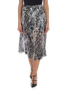 Alice + Olivia - Reptile print skirt in gray and black