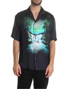 Off-White - Camicia Waterfall Holiday nera