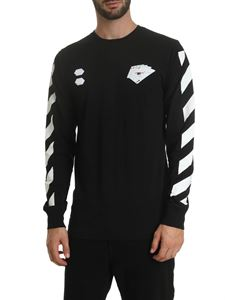 Off-White - Diag Hand Card T-shirt in black