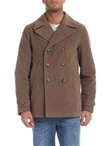 Fay - Double-breasted coat in walnut brown color