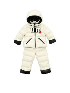 Moncler Jr - Savine padded snowsuit in white