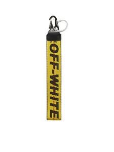 Off-White - Portachiavi Industrial giallo