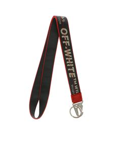 Off-White - Portachiavi a collana Industrial antracite