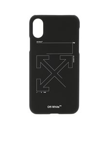 Off-White - Unifinished cover in black for Iphone X