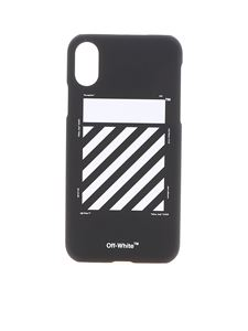 Off-White - Cover Diags nera per Iphone X