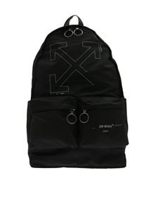 Off-White - Unifinished backpack in black with silver logo
