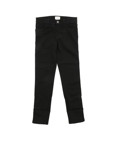 Gucci - Black jeans with Web detail