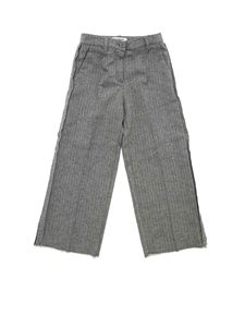 Dondup - Herringbone pants in black and white