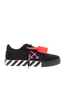 Off-White - Low Vulcanized sneakers in black and fuchsia