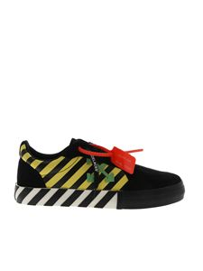 Off-White - Low Vulcanized sneakers in black and yellow