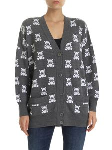 Moschino - Cardigan in grey with Teddy Bear logo