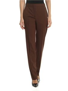 Alberta Ferretti - High waist trousers in brown