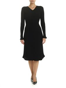 Alberta Ferretti - Black ribbed dress