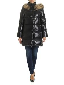 Fay - Black down jacket with fur
