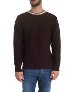 Eleventy - Knitted fabric pullover in wine color