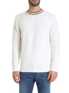Eleventy - Knitted fabric pullover in white