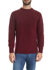 Fedeli - Wool and cashmere pullover in burgundy color