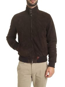 Stewart - Nuvola jacket in brown suede