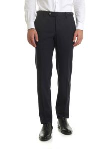 PT01 - Wool blend trousers in  blue