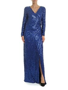 Parosh - Bluette wrap dress with sequins