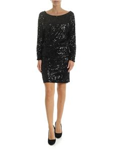 Parosh - Black jersey dress with sequins
