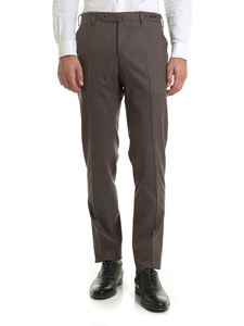 PT01 - Stretch wool trousers in gray