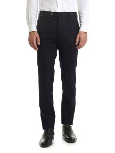 PT01 - Stretch wool trousers in blue