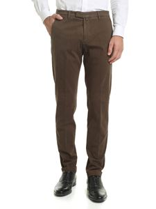 Briglia 1949 - Green trousers with diagonal pattern