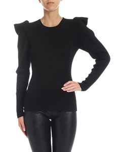 Parosh - Lamé wool sweater in black