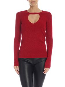 Parosh - Lamé wool sweater in red