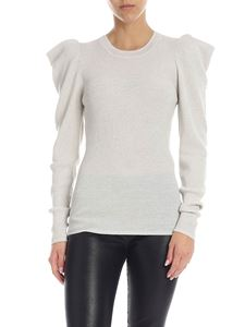 Parosh - Lamé wool sweater in gray