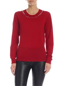 Parosh - Red pullover with studs