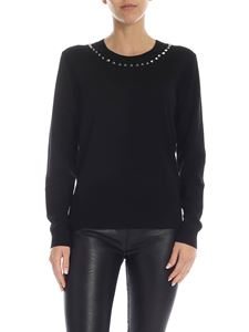 Parosh - Black pullover with studs