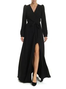 Parosh - Black wrap dress